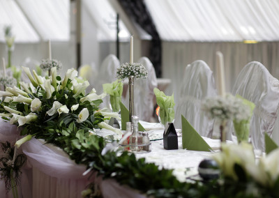 festively decorated hall for weddings